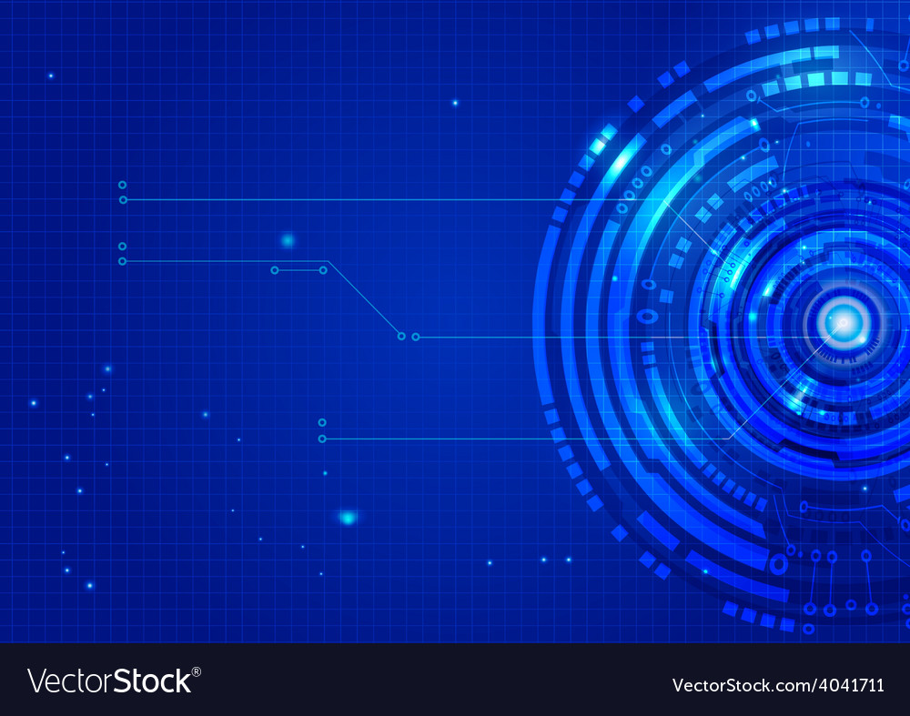 Abstract technology blue background vector | Price: 1 Credit (USD $1)