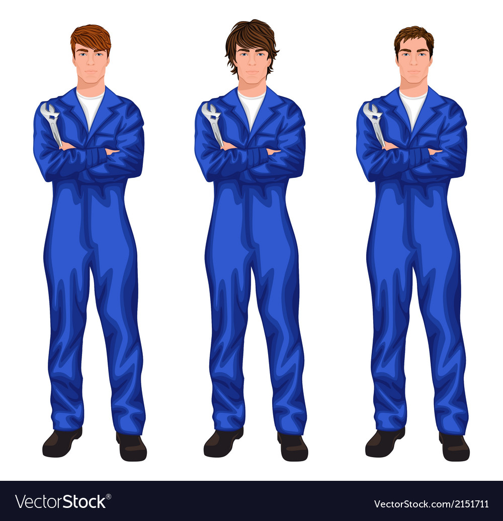 Auto mechanic worker set vector | Price: 1 Credit (USD $1)