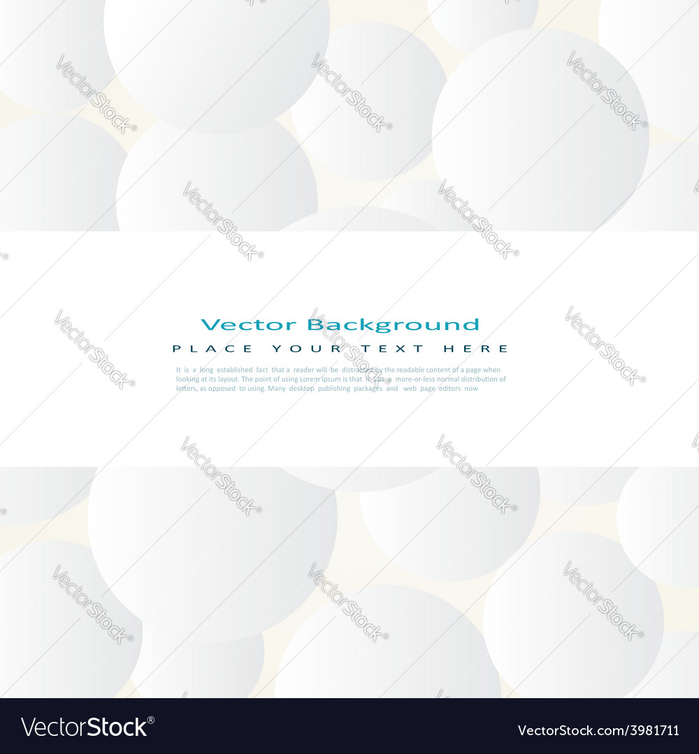 Background with simple white circles vector | Price: 1 Credit (USD $1)