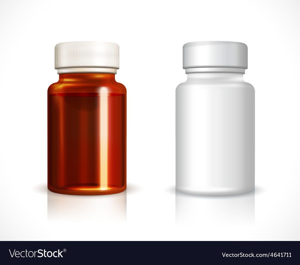 Blank plastic and glass bottle vector | Price: 1 Credit (USD $1)