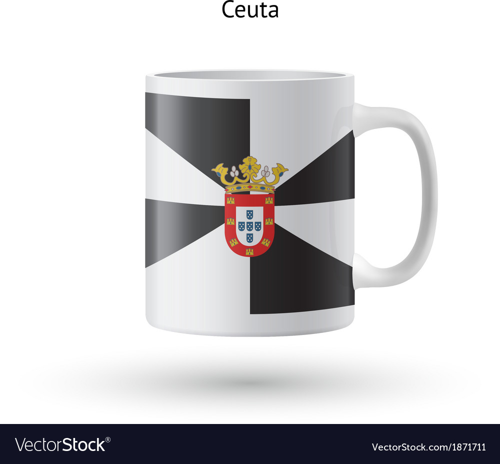 Ceuta flag souvenir mug on white background vector | Price: 1 Credit (USD $1)