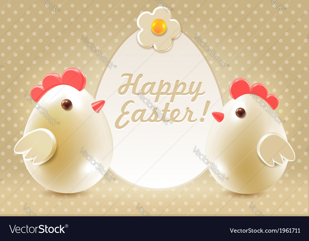 Easter greetings vector | Price:  Credit (USD $)