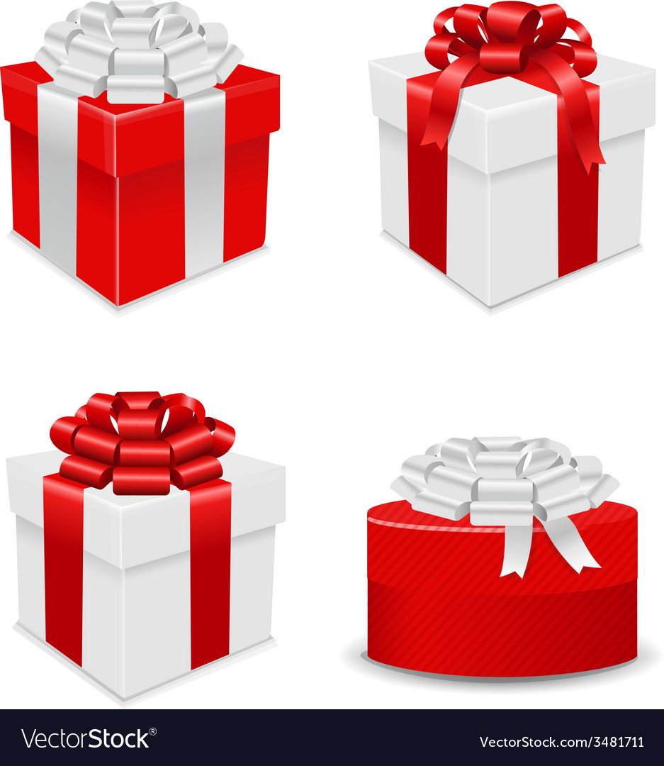 Gift boxes set vector | Price: 1 Credit (USD $1)