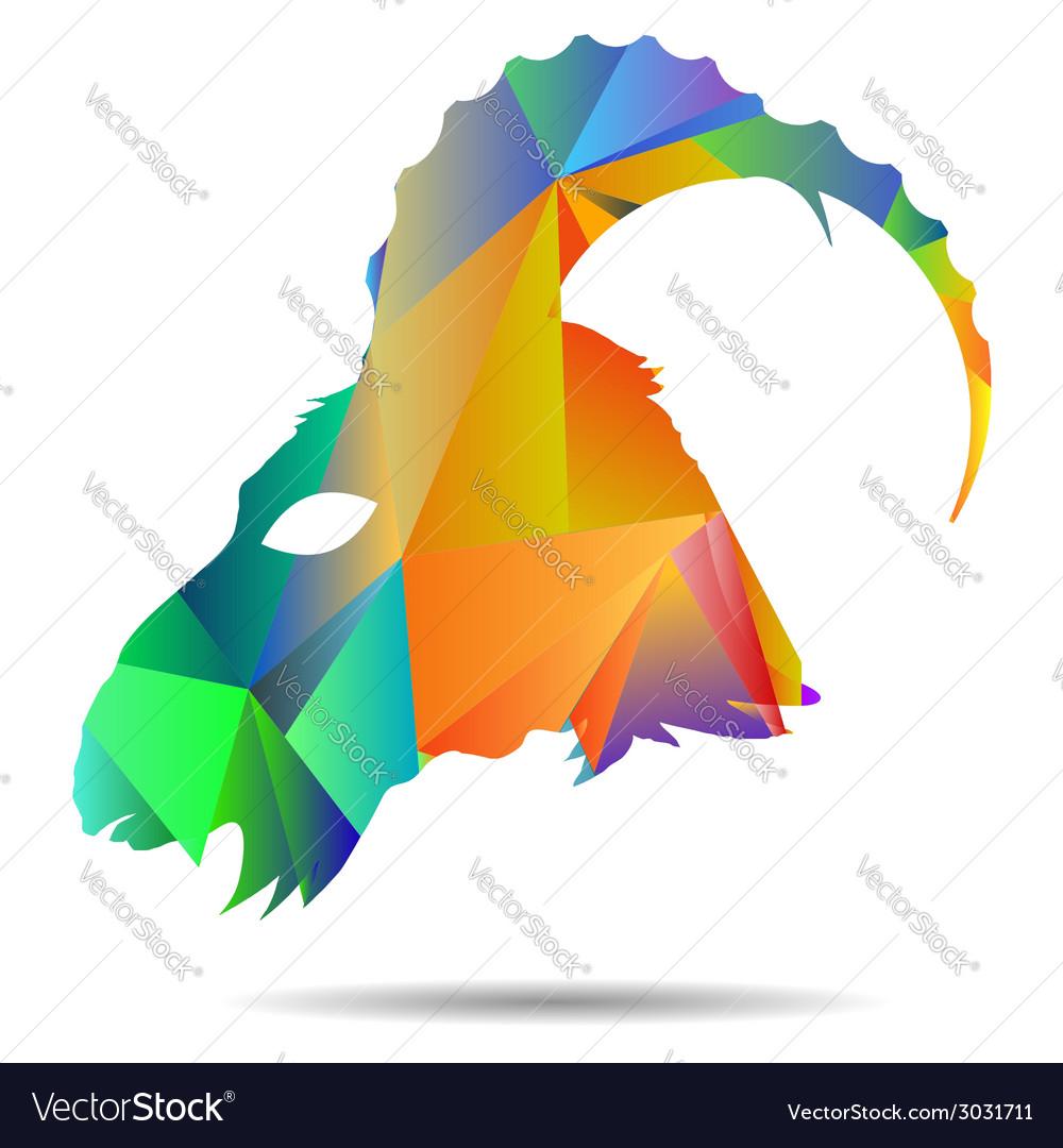 Goat head vector | Price: 1 Credit (USD $1)