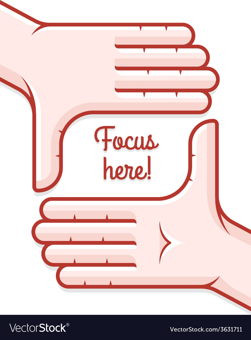 Hands taking focus frame vector | Price: 1 Credit (USD $1)