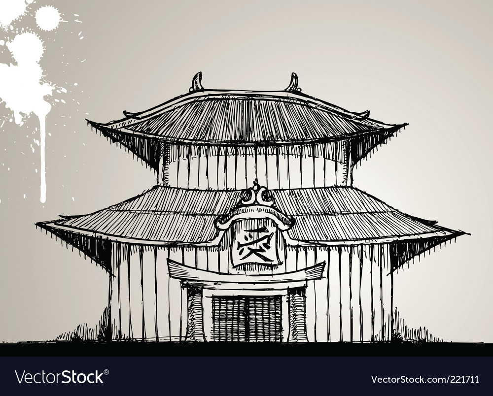 Pagoda illustration vector | Price: 1 Credit (USD $1)