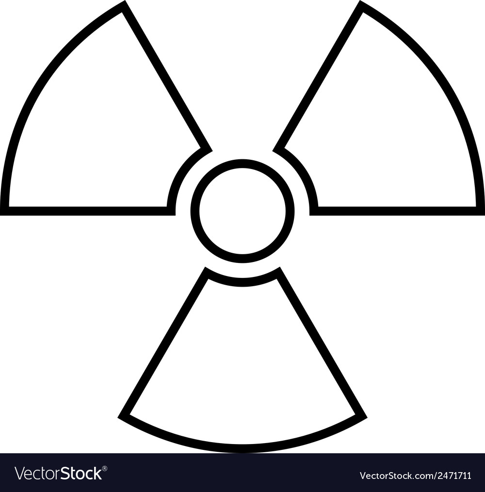 Radiation sign icon vector | Price: 1 Credit (USD $1)