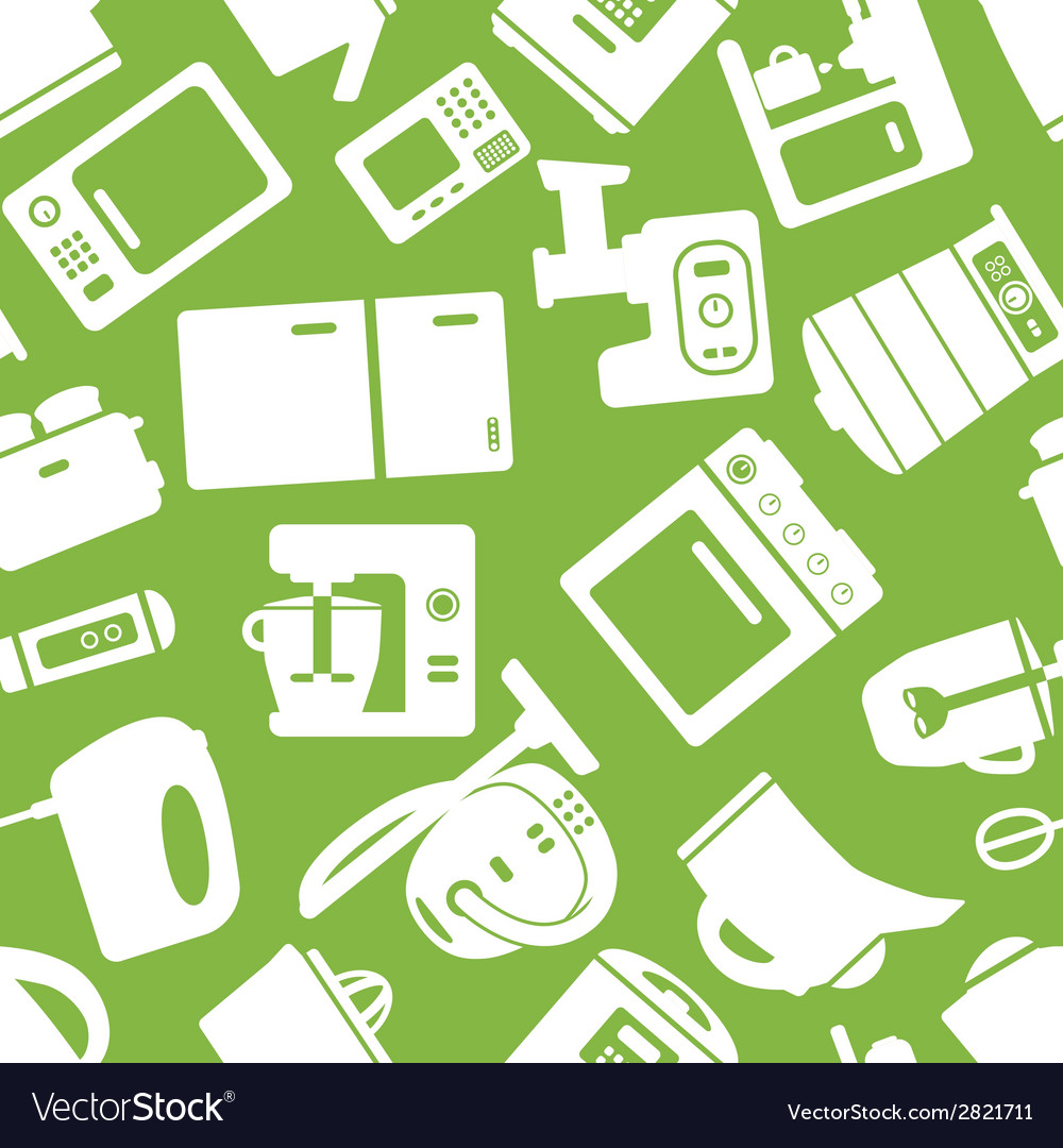 Seamless pattern with electronic appliances vector | Price: 1 Credit (USD $1)