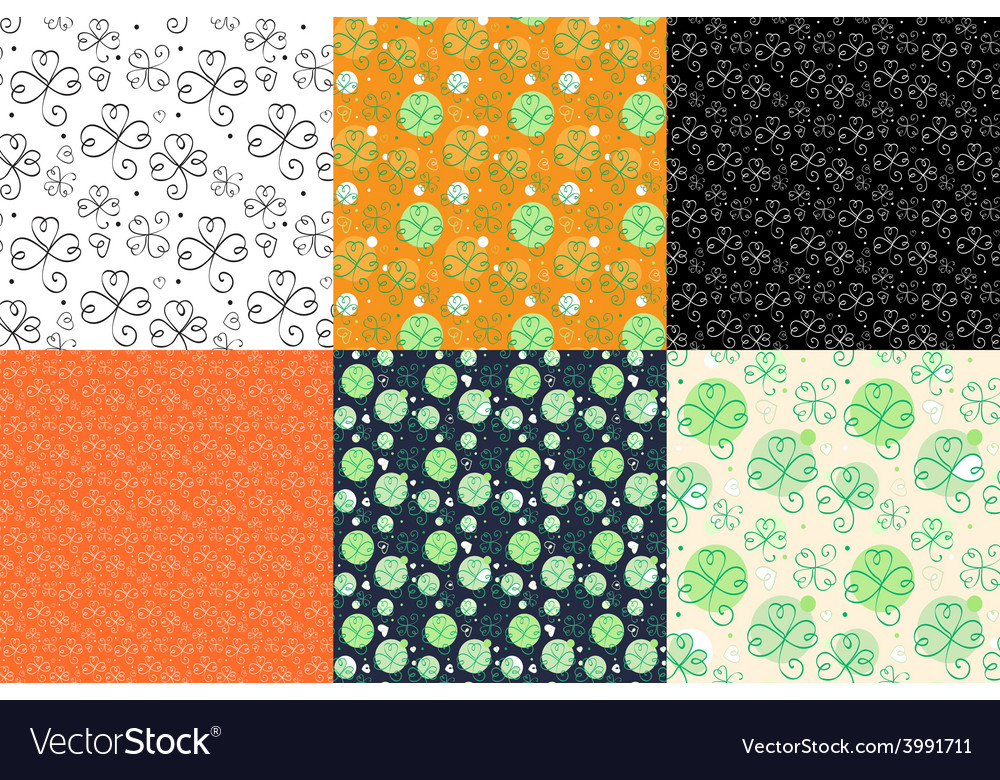 Shamrok pattern vector | Price: 1 Credit (USD $1)