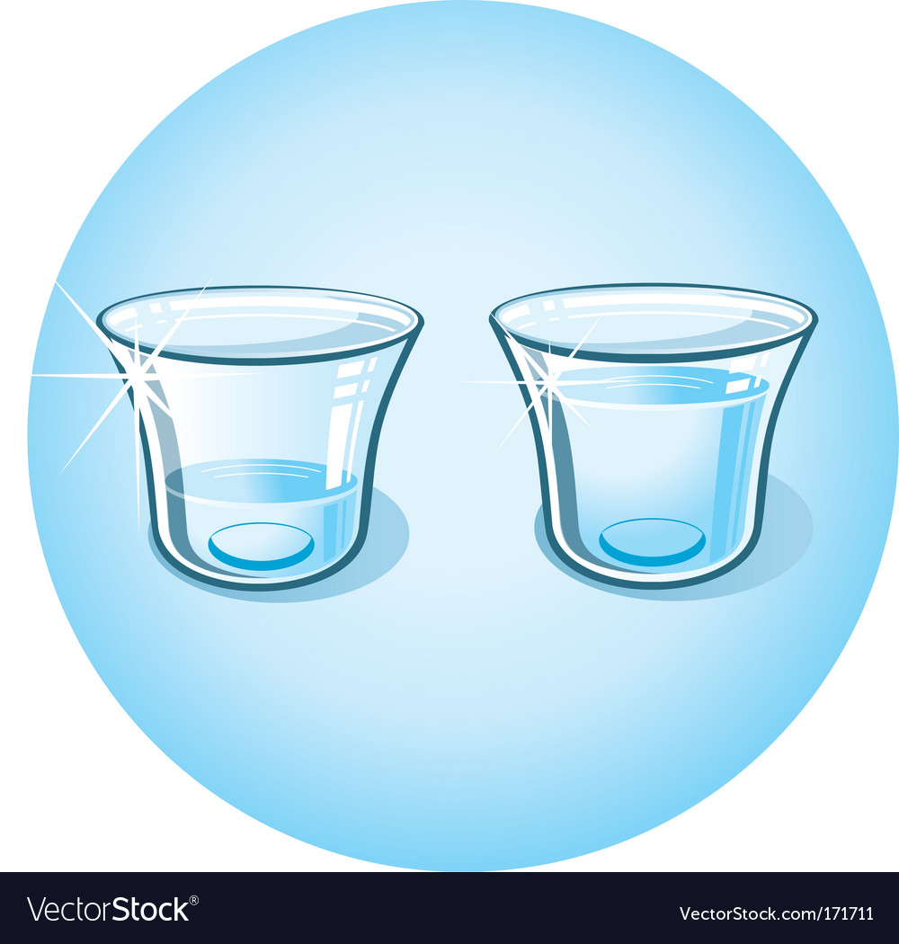 Shot glass with clear water vector | Price: 1 Credit (USD $1)