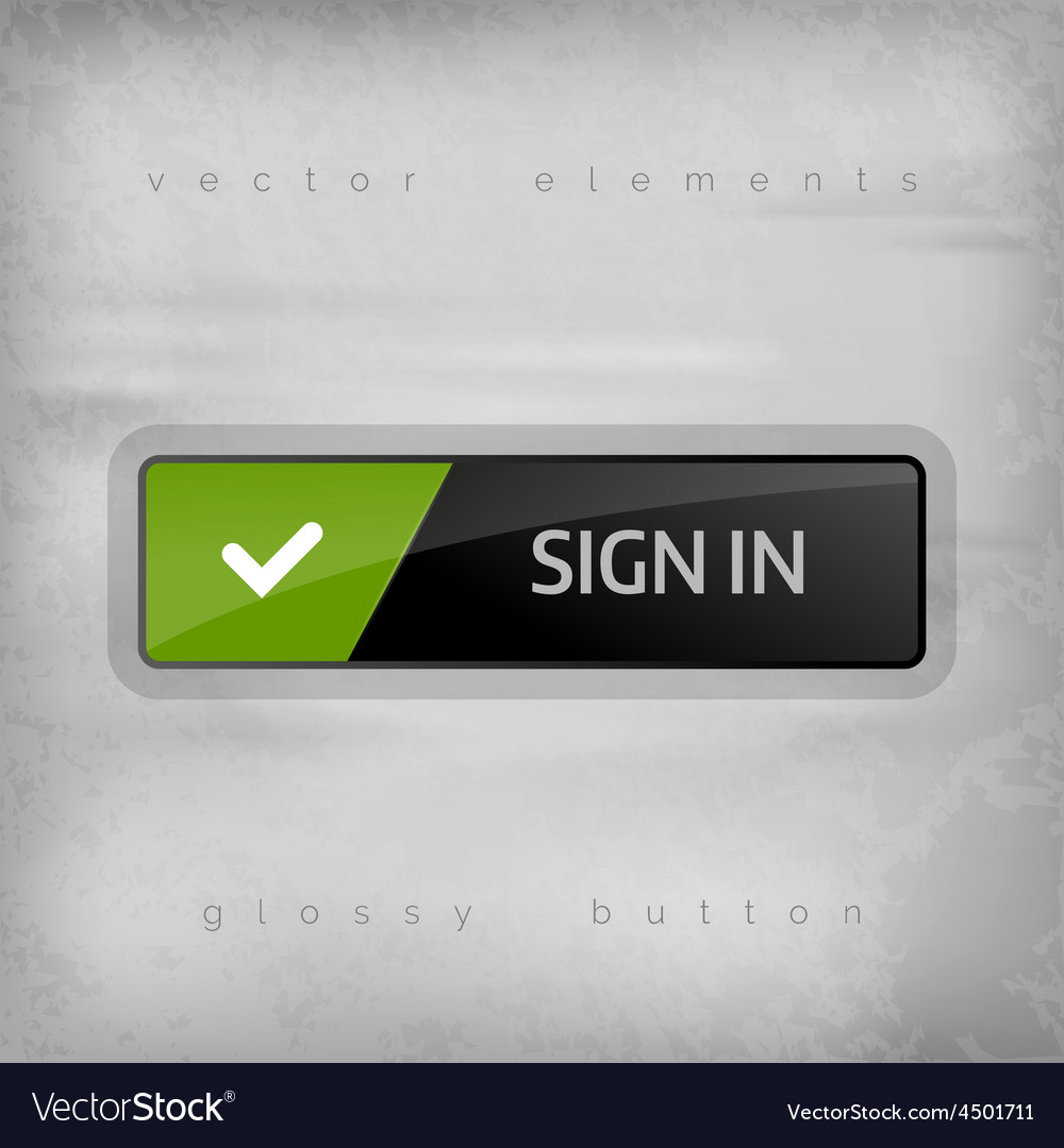 Sign in button vector | Price: 1 Credit (USD $1)
