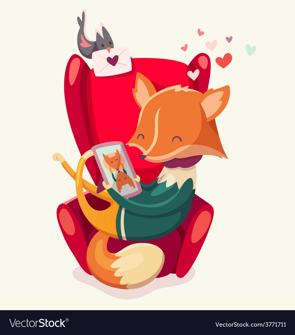 Valentine fox vector | Price: 3 Credit (USD $3)