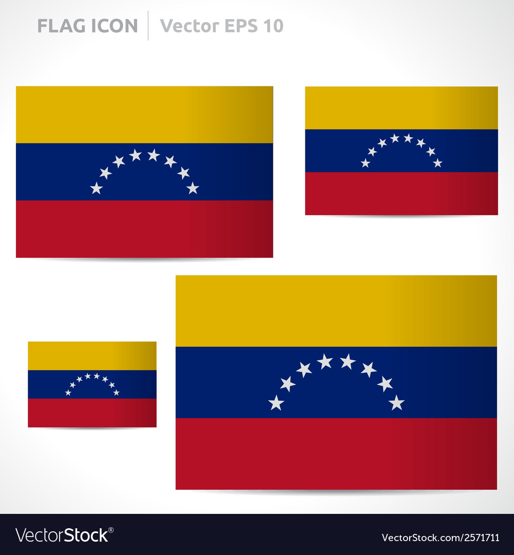 Venezuela flag template vector | Price: 1 Credit (USD $1)