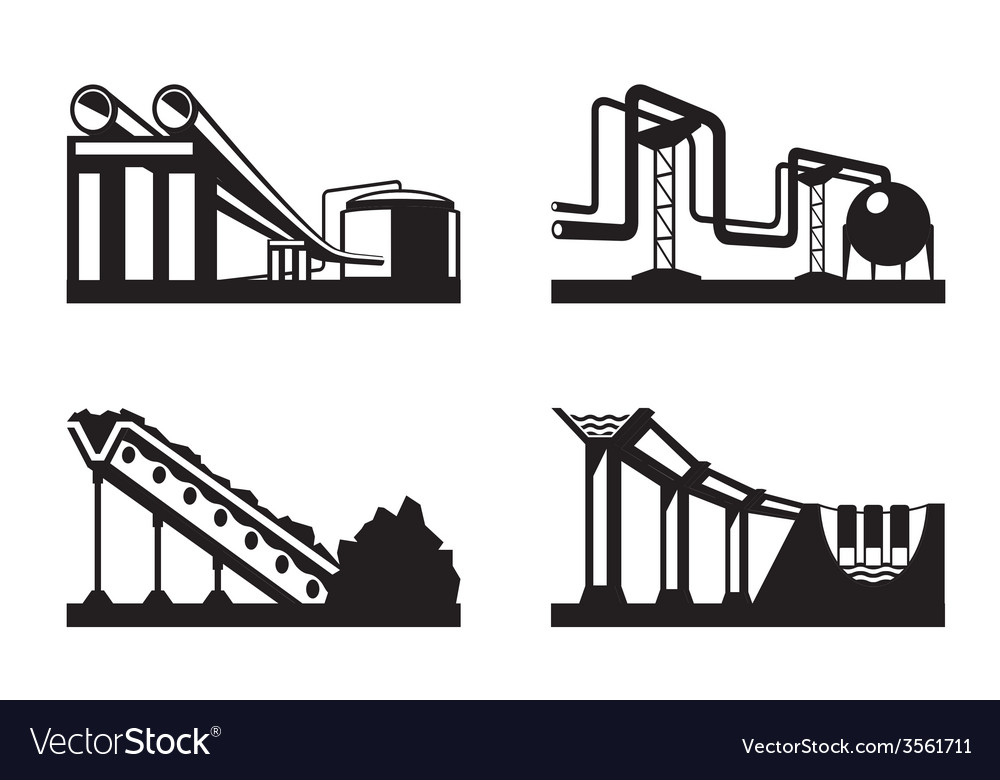 Warehouses for natural resources vector