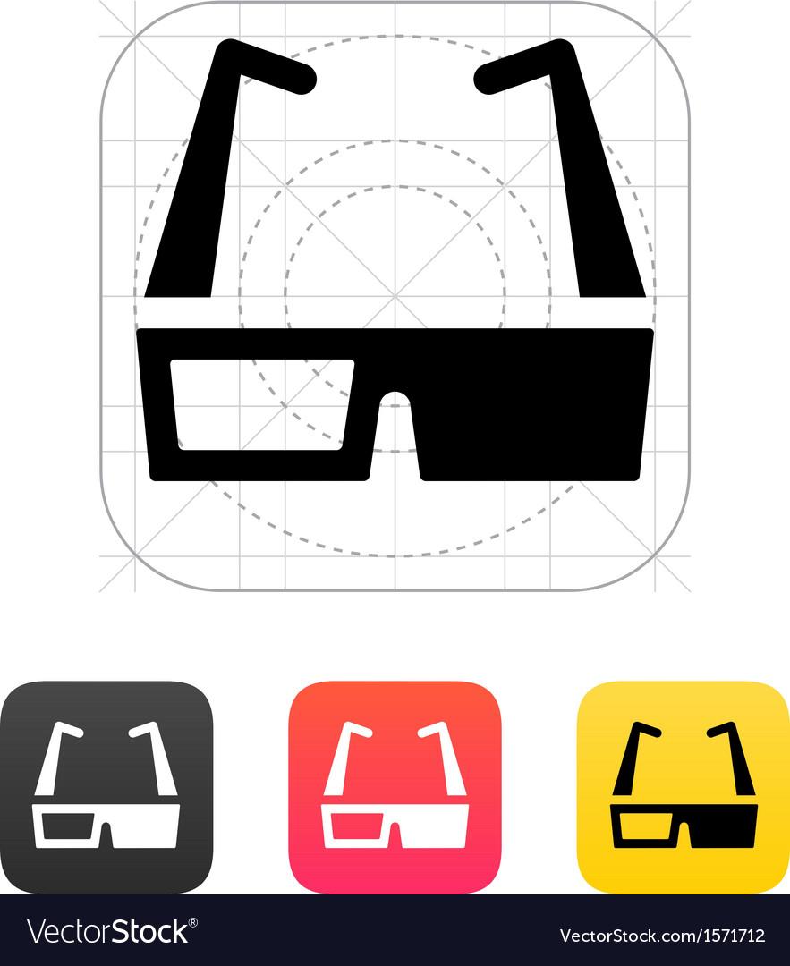 3d cinema glasses icon vector | Price: 1 Credit (USD $1)