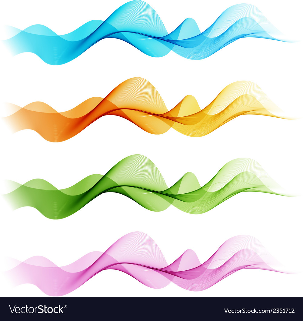 Abstract colorful transparent wave vector | Price: 1 Credit (USD $1)
