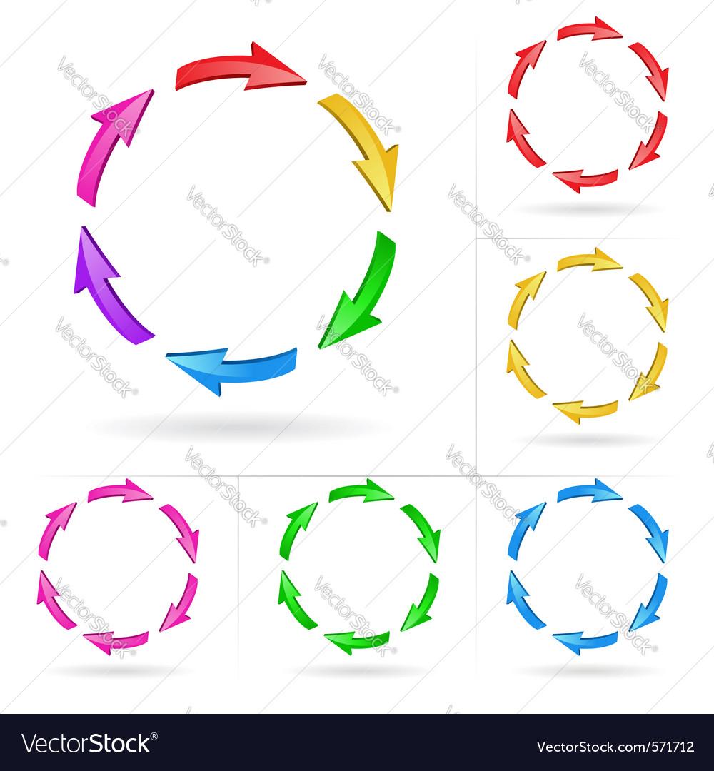 Arrows circle elements vector | Price: 1 Credit (USD $1)
