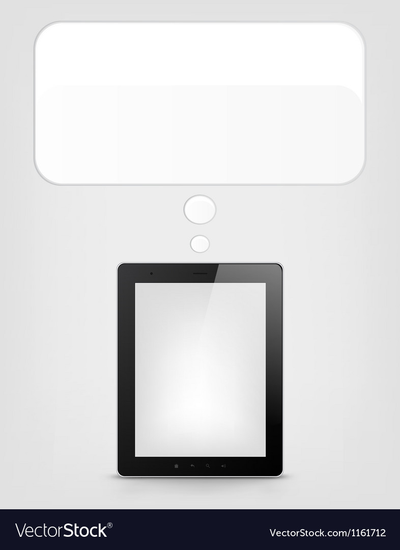 Digital tablet concept vector | Price: 1 Credit (USD $1)