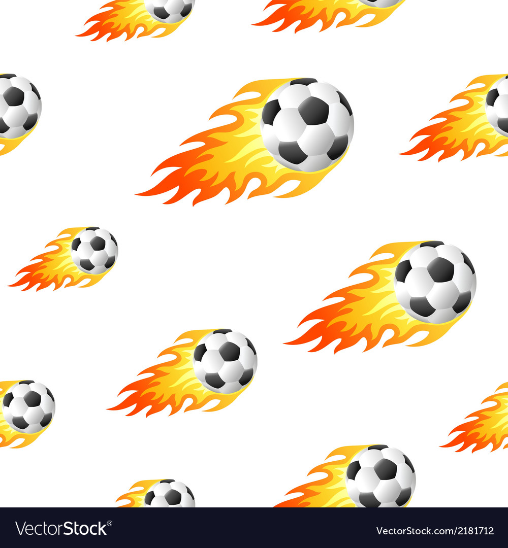 Fire football background vector | Price: 1 Credit (USD $1)