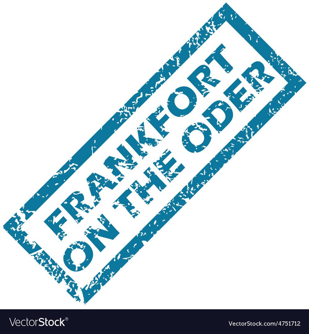 Frankfort on oder rubber stamp vector | Price: 1 Credit (USD $1)