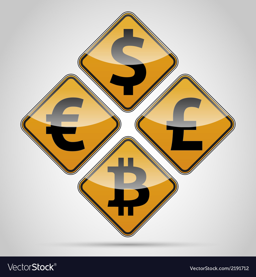 Money sign board set vector | Price: 1 Credit (USD $1)