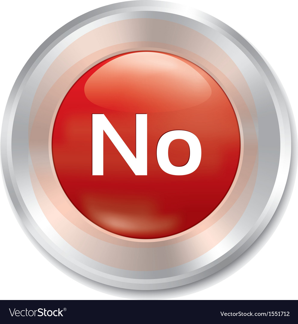No button red round sticker vector | Price: 1 Credit (USD $1)