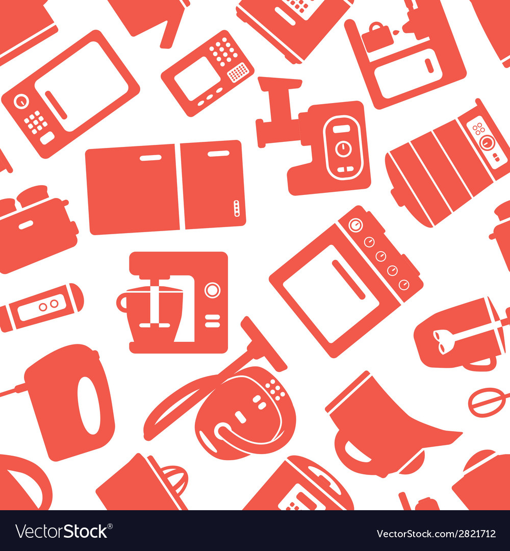 Seamless pattern with electronic appliances vector   Price: 1 Credit (USD $1)