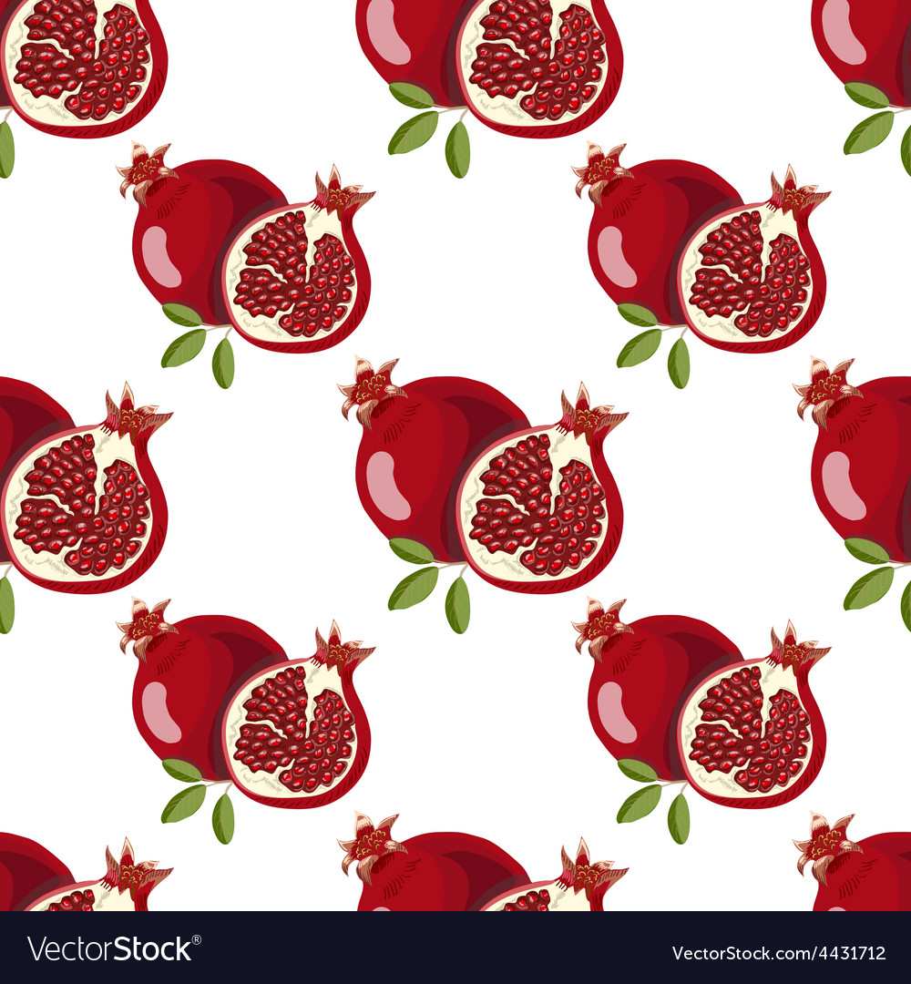 Seamless pattern with pomegranate vector | Price: 1 Credit (USD $1)