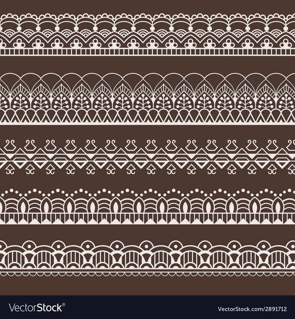 Set of lace borders vector   Price: 1 Credit (USD $1)