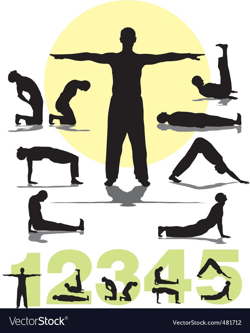 Tibetans yoga vector | Price: 1 Credit (USD $1)