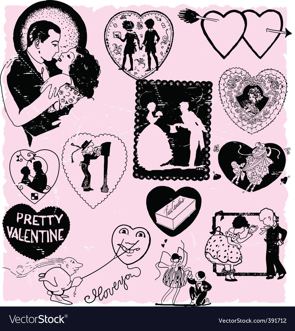 Valentines scrapbook vector | Price: 1 Credit (USD $1)