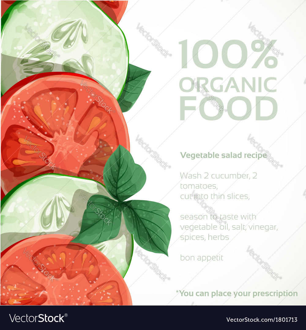 Banner with fresh vegetables tomatoes vector | Price: 1 Credit (USD $1)