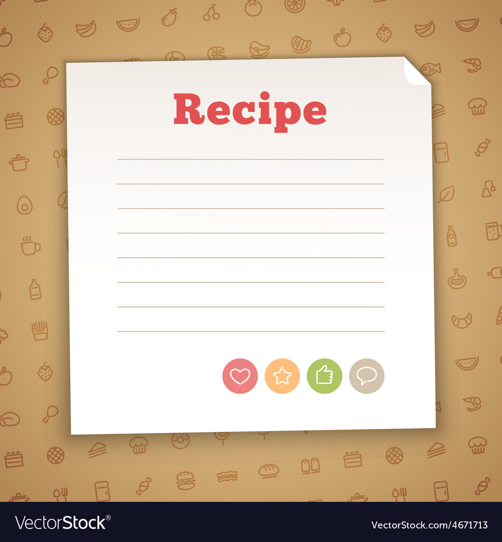 Blank recipe card template vector | Price: 1 Credit (USD $1)