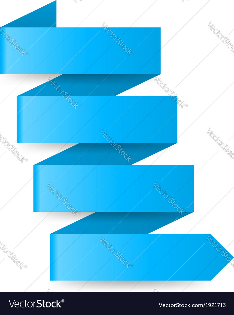 Blue paper arrow vector | Price: 1 Credit (USD $1)
