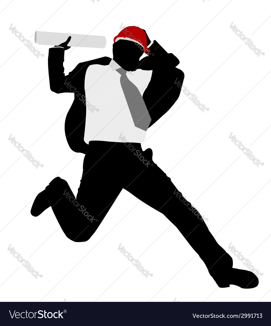 Businessman jump vector | Price: 1 Credit (USD $1)