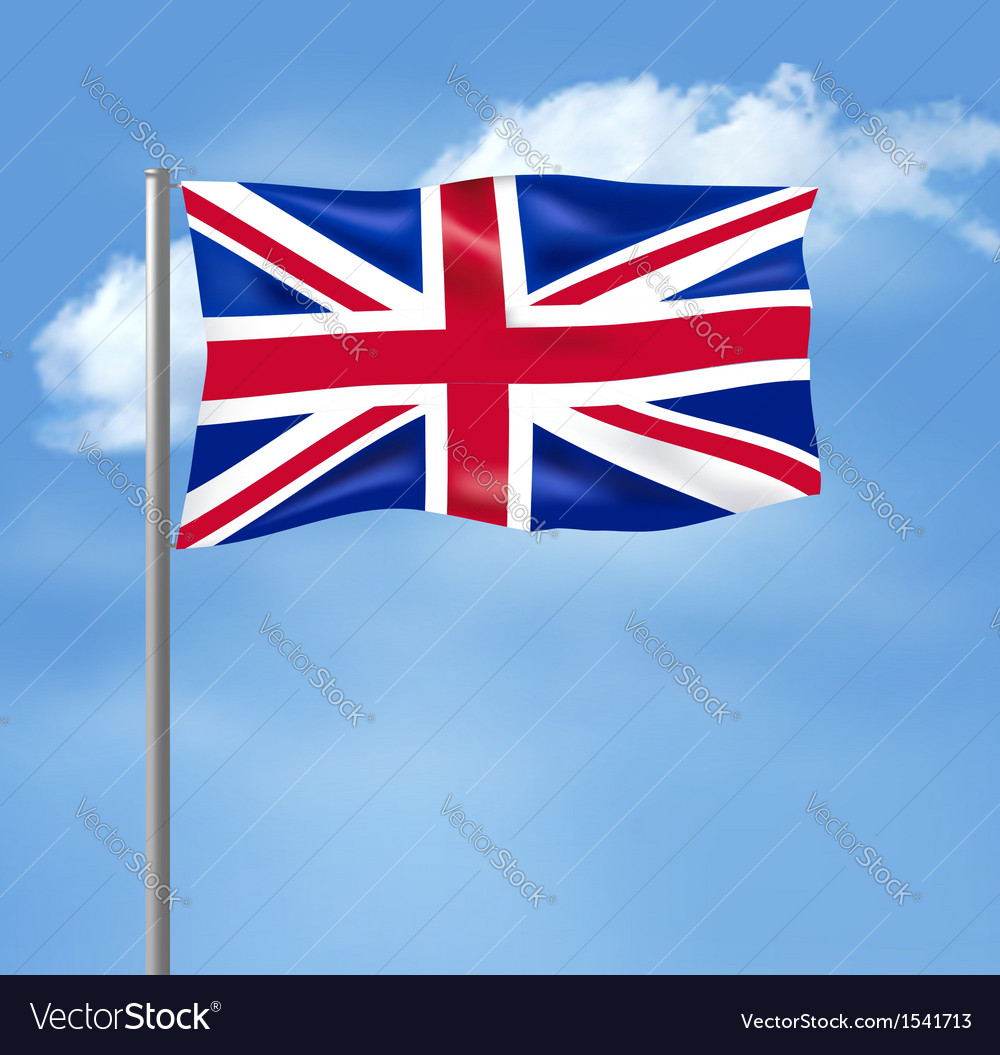 Flag of the united kingdom on blue sky vector | Price: 1 Credit (USD $1)