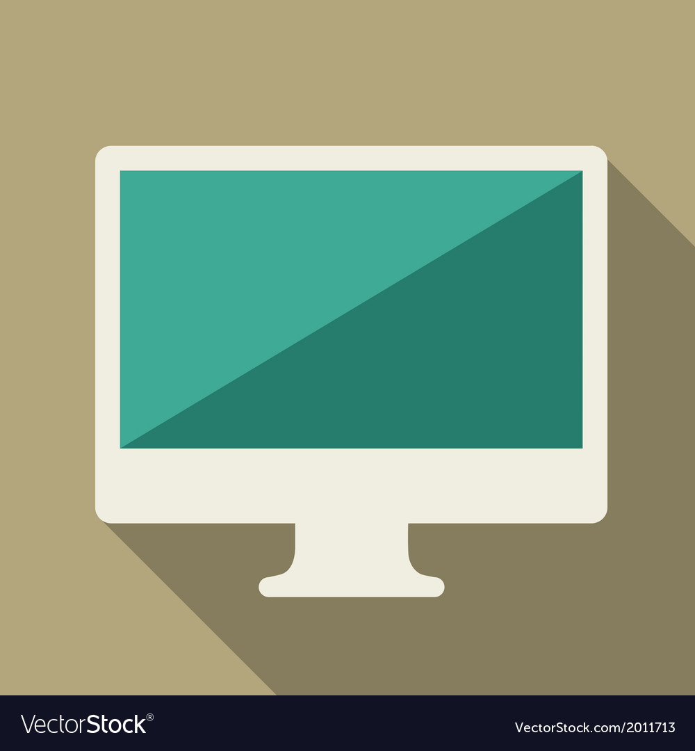 Flat computer vector | Price: 1 Credit (USD $1)