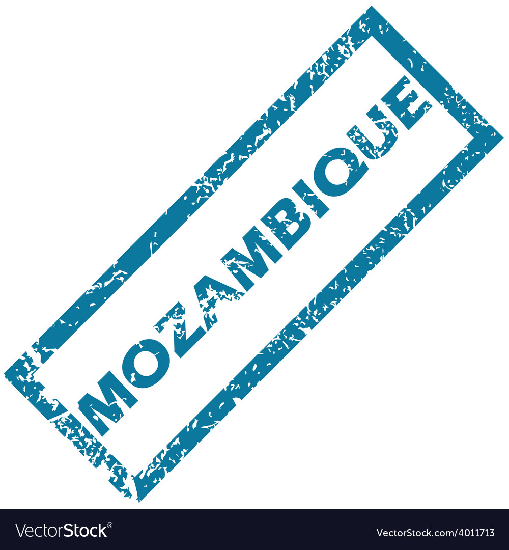 Mozambique rubber stamp vector | Price: 1 Credit (USD $1)