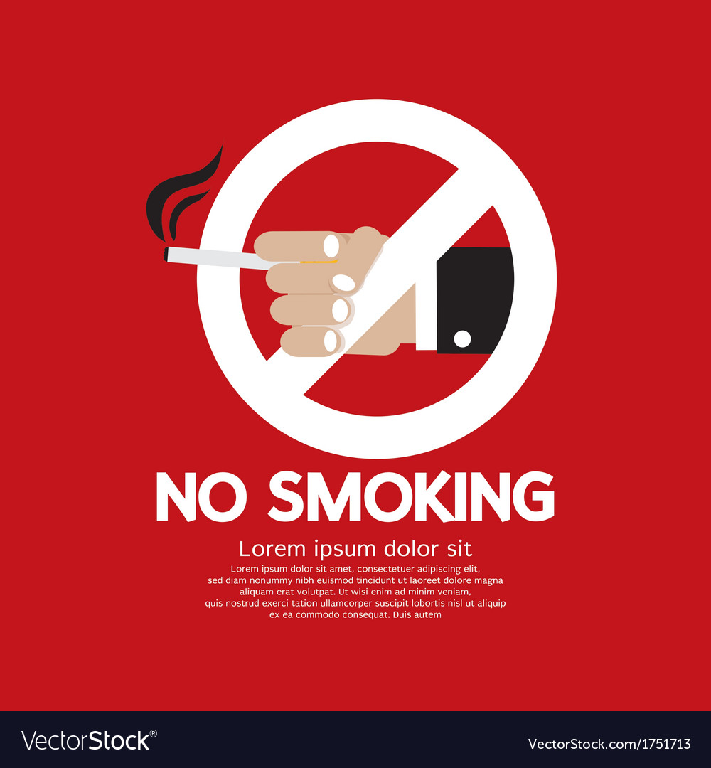 No smoking eps10 vector | Price: 1 Credit (USD $1)