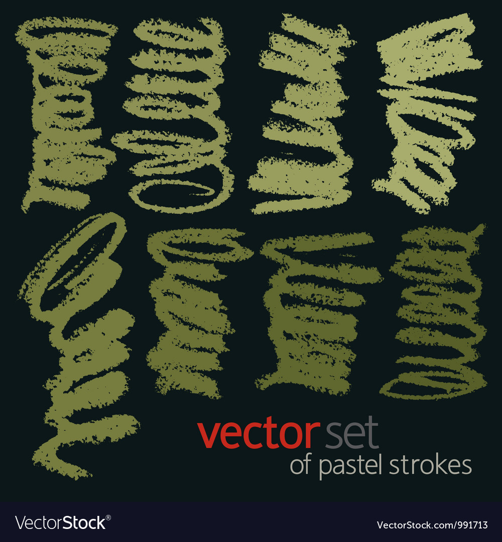 Pastel strokes set 1 vector | Price: 1 Credit (USD $1)