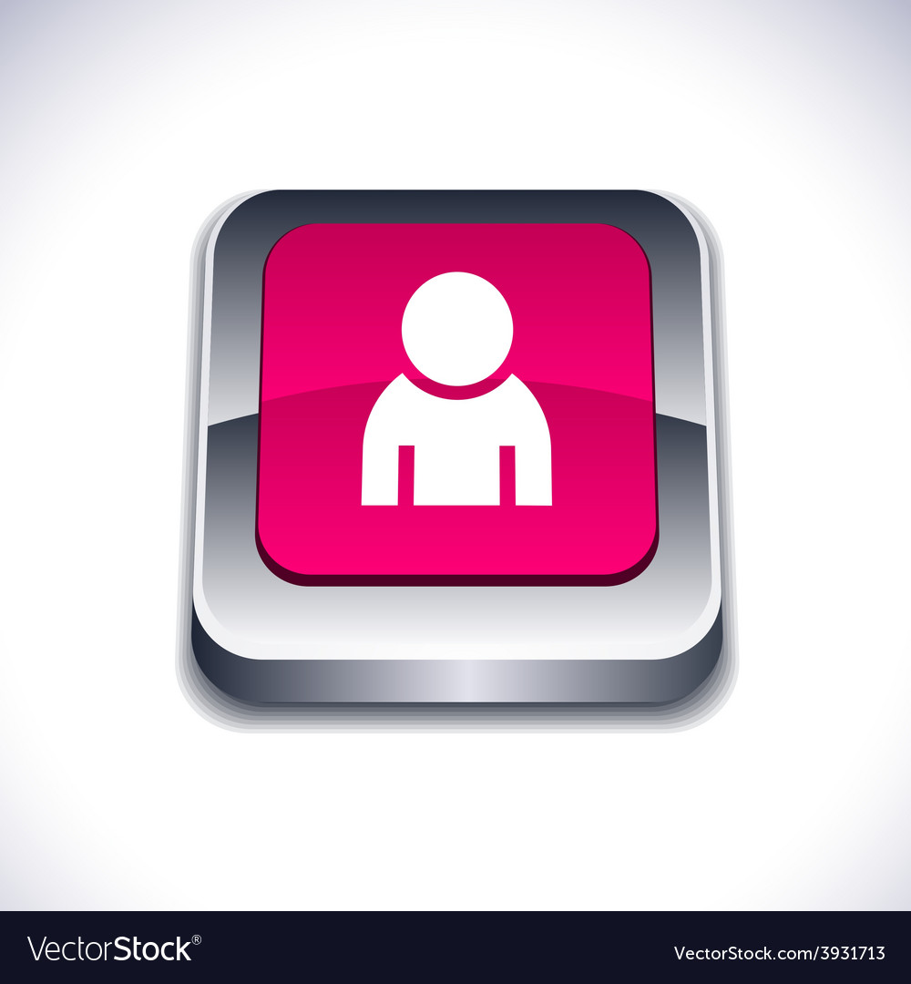 Person 3d button vector | Price: 1 Credit (USD $1)