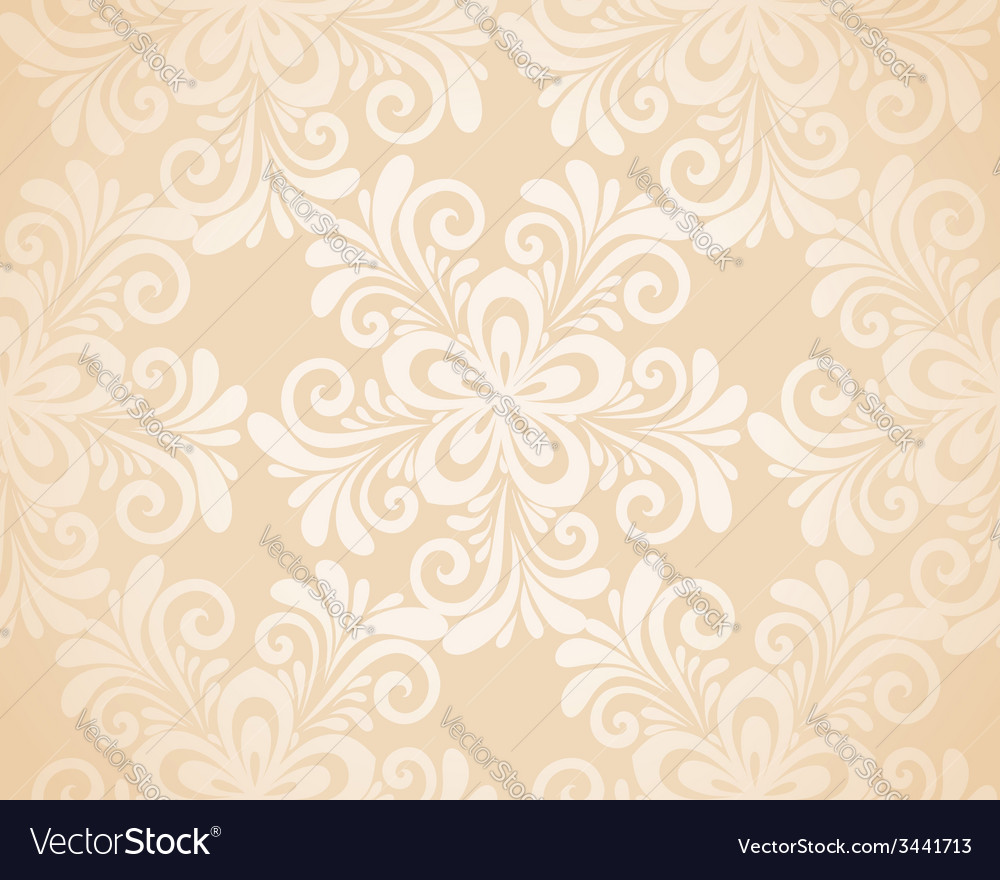 Seamless floral background with flowers vector | Price: 1 Credit (USD $1)