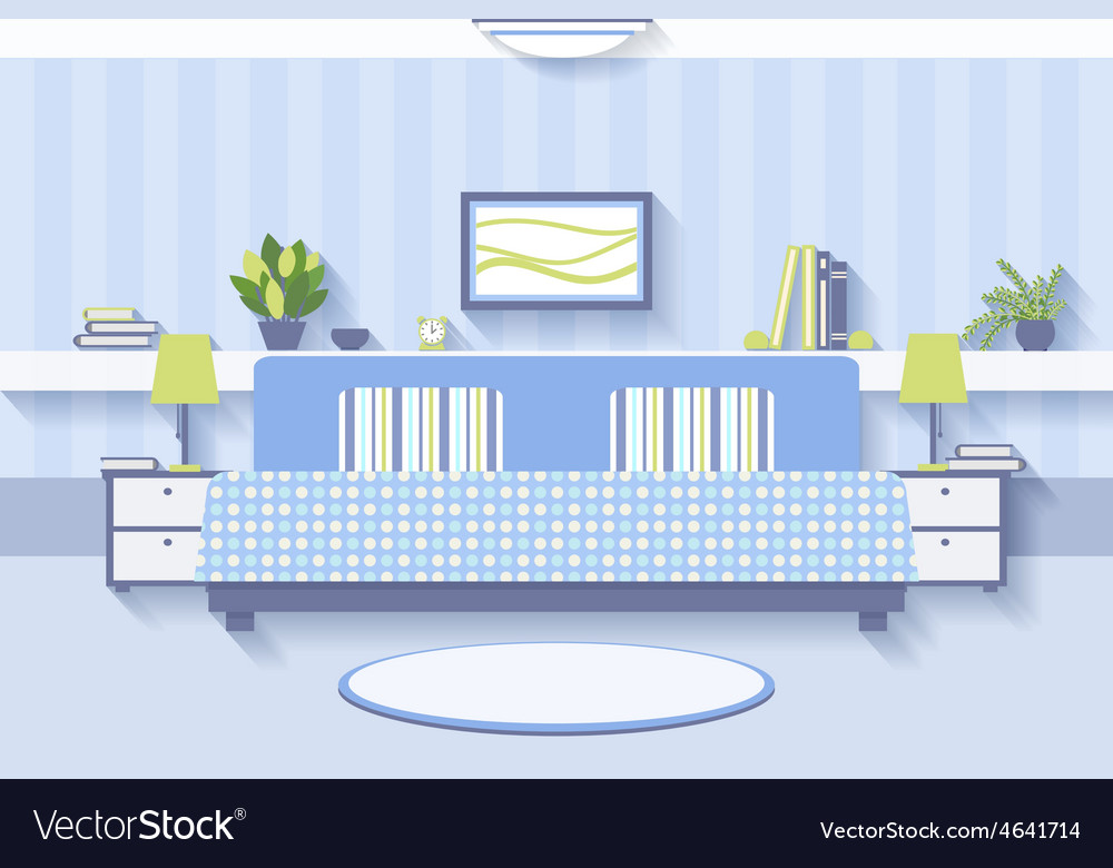 Bedroom interior design vector | Price: 1 Credit (USD $1)