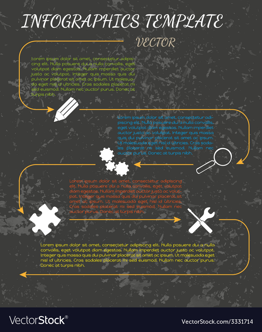 Dark infographics vector | Price: 1 Credit (USD $1)