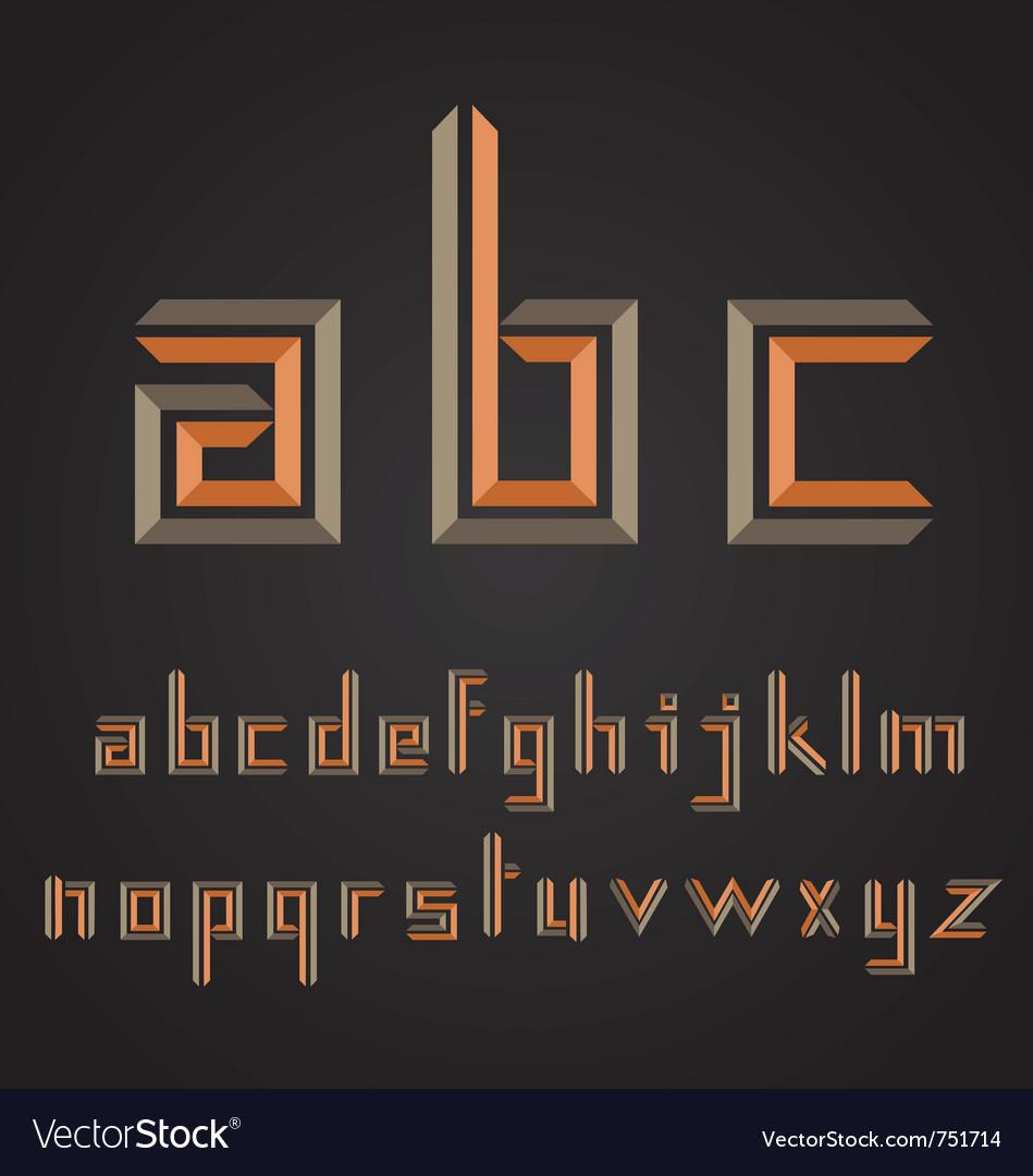 Decorative alphabet design vector | Price: 1 Credit (USD $1)