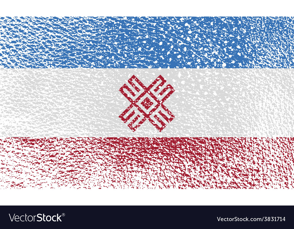 Flag of mari el with old texture vector   Price: 1 Credit (USD $1)