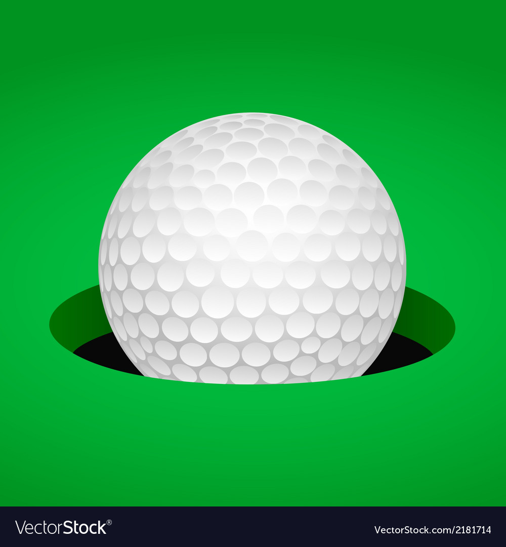 Golf ball in cup vector | Price: 1 Credit (USD $1)