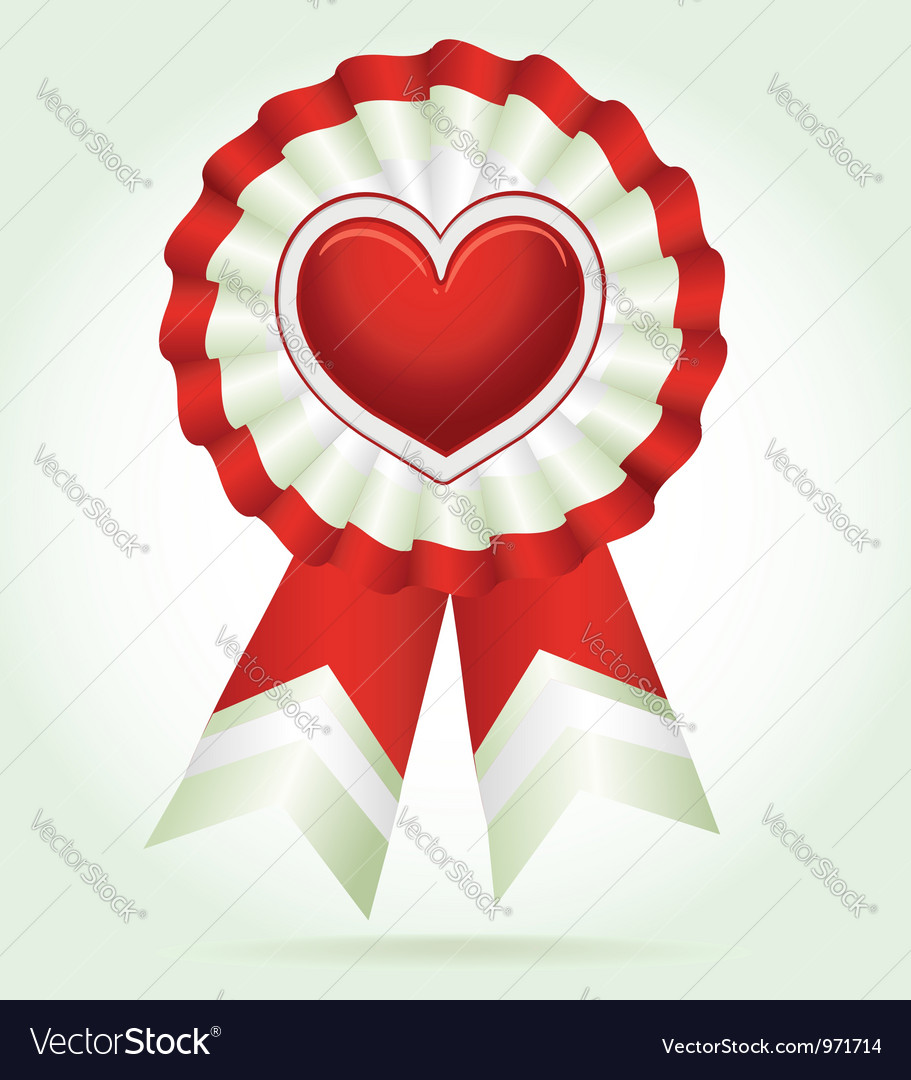 Heart award vector | Price: 1 Credit (USD $1)