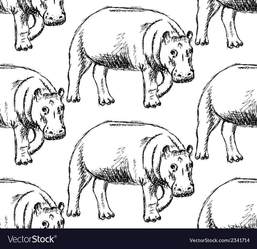 Hippo vector | Price: 1 Credit (USD $1)