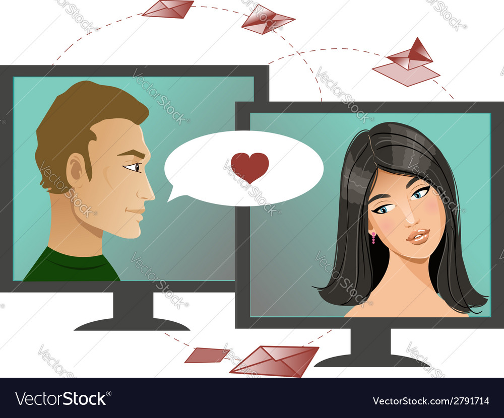 Internet dating vector | Price: 1 Credit (USD $1)